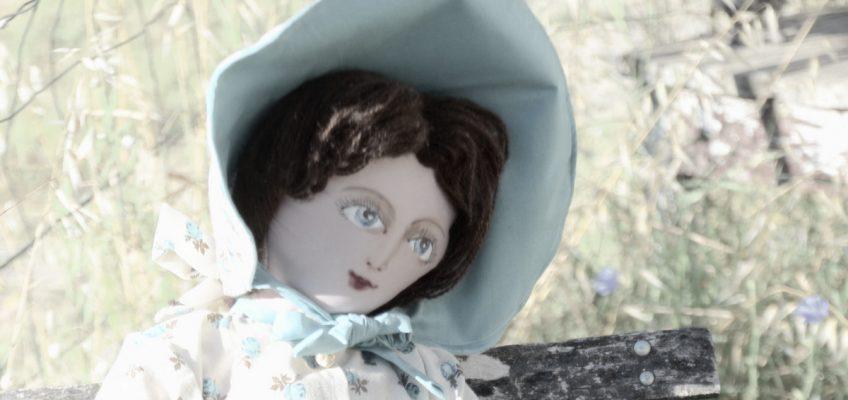 La demoiselle en bleu qui avait perdu son panier.